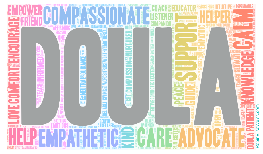 Word Cloud that Make Up a Doula